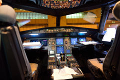 Airbus A320 cockpit interior Stock Photos
