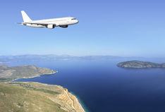 Airbus Crete coast Stock Photo