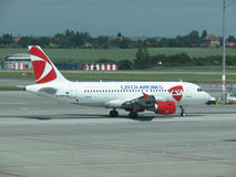 Airbus A319 of the Czech Airlines Stock Photos