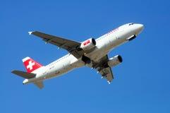 Airbus A320 décollant, Espagne. Photographie stock
