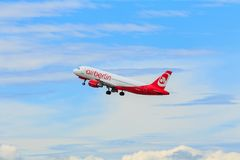 Airbus A320-200 d'Air Berlin Images stock