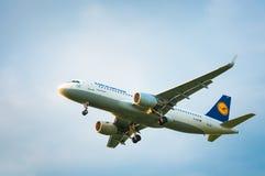 Airbus A320 D-AIUI de la línea aérea Lufthansa Imágenes de archivo libres de regalías
