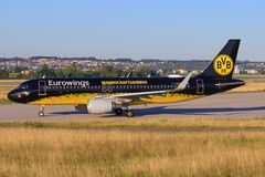 Airbus A320 d'Eurowings Image stock