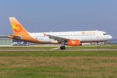 Airbus A320 d'Orange2fly photo libre de droits