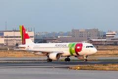 Airbus A320 da linha aérea de TAP Portugal Foto de Stock