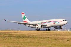 Airbus A330 dalla linea aerea di Medio Oriente fotografia stock libera da diritti