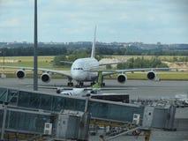 Airbus A380 das linhas aéreas dos emirados Fotos de Stock