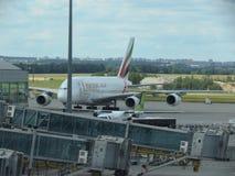 Airbus A380 das linhas aéreas dos emirados Fotografia de Stock Royalty Free