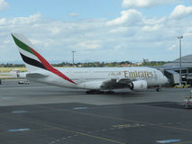 Airbus A380 das linhas aéreas dos emirados Imagens de Stock