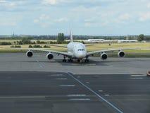 Airbus A380 das linhas aéreas dos emirados Fotos de Stock Royalty Free