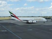 Airbus A380 das linhas aéreas dos emirados Imagem de Stock