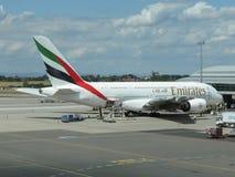 Airbus A380 das linhas aéreas dos emirados Imagens de Stock Royalty Free
