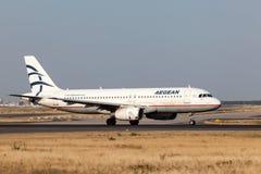 Airbus A320 de Aegean Airlines Fotos de Stock