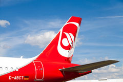 Airbus A 321-211 de Air Berlin Foto de Stock