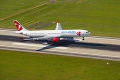 Airbus A330 de Czech Airlines Foto de Stock