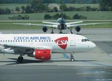 Airbus A319 de Czech Airlines Fotografia de Stock Royalty Free