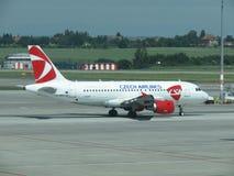 Airbus A319 de Czech Airlines Fotos de Stock