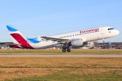 Airbus A320 de Eurowings Fotos de archivo libres de regalías