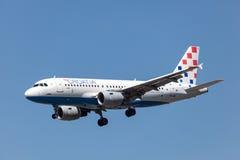 Airbus A319 de la línea aérea de Croacia Imagen de archivo