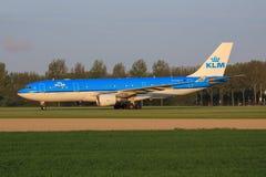 Airbus A330 de la línea aérea de KLM foto de archivo libre de regalías
