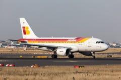 Airbus A318 de la ligne aérienne d'Ibérie Photo libre de droits