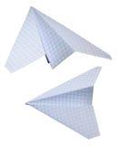 Airbus de papel isolado no branco Imagens de Stock
