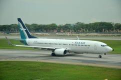 Airbus A320 de SilkAir em Singapura Fotos de Stock Royalty Free