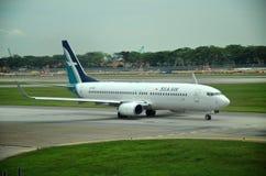Airbus A320 de SilkAir em Singapura Imagem de Stock