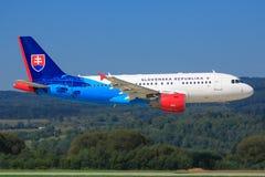 Airbus A320 de Slovenska Republika Imagens de Stock
