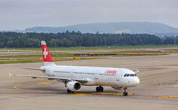 Airbus A321 de Swiss International Air Lines Image libre de droits