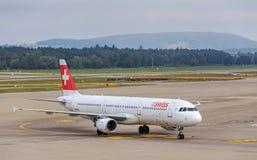 Airbus A321 de Swiss International Air Lines Imagem de Stock Royalty Free