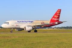 Airbus A320 de Tchèque Photo libre de droits