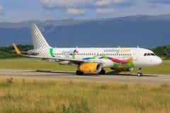 Airbus A320 de Vueling Liebana Cantabri Photographie stock