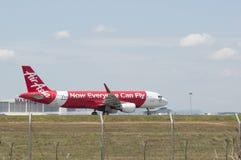 Airbus A320 decola Foto de Stock