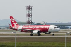 Airbus A320 decola Fotos de Stock Royalty Free