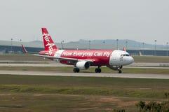 Airbus A320 decola Imagem de Stock