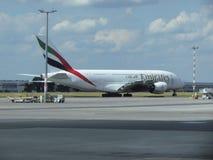 Airbus A380 der Emiratfluglinien Stockfoto