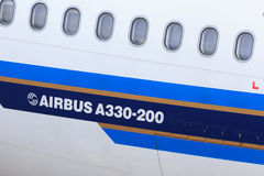Airbus A330 detail Royalty Free Stock Images