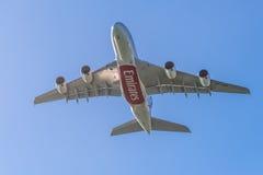 Airbus A380 - die größten Passagierflugzeuge der Welt Stockfotografie