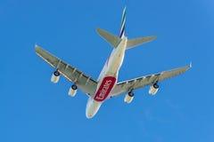 Airbus A380 - die größten Passagierflugzeuge der Welt stockbilder