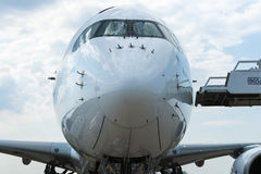 Airbus A350-900 on display at Zhukovsky airfield Stock Image
