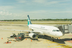 Airbus A319 do ar de seda Imagem de Stock