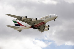 Airbus A380 double deck passenger jet Royalty Free Stock Photos
