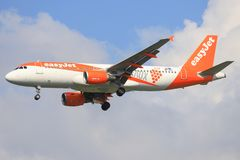 Airbus a320 of Easyjet royalty free stock photo