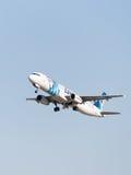 Airbus A321-231 Egyptair Foto de Stock Royalty Free