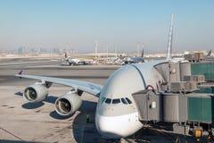 Airbus A380 em Catar Foto de Stock Royalty Free