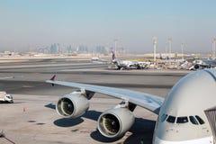 Airbus A380 em Catar Foto de Stock