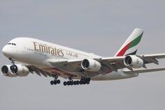 Airbus A 380 em pronto para aterrar Imagem de Stock Royalty Free