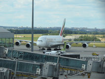Airbus A380 of the Emirates airlines Stock Image