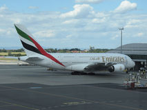 Airbus A380 of the Emirates airlines Stock Photography